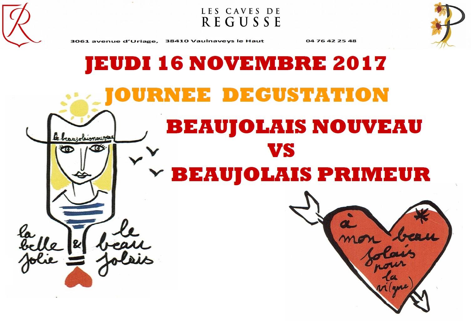 Beaujolais nouveau ! Jeudi 16 novembre 2017
