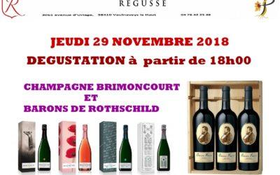 JEUDI 22 novembre : dégustation Bordeaux et Champagne