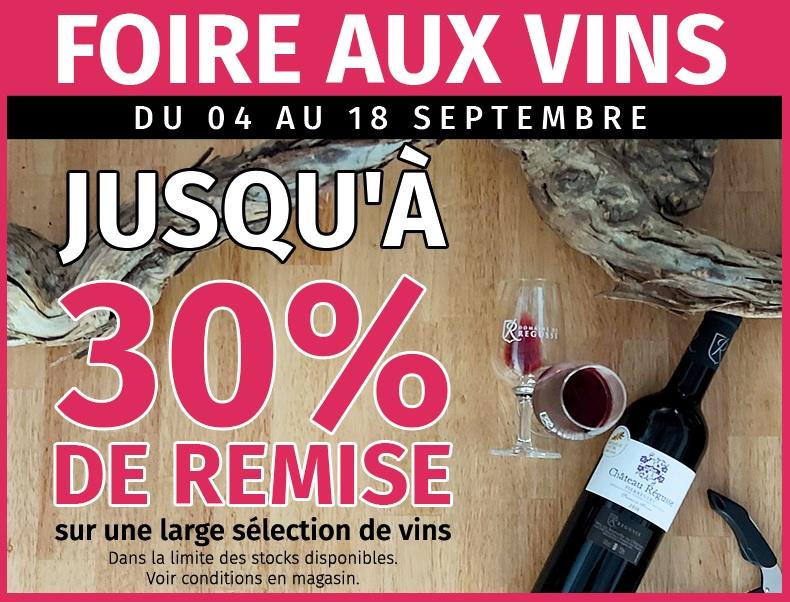 Foire aux vins – du 04 au 18 septembre